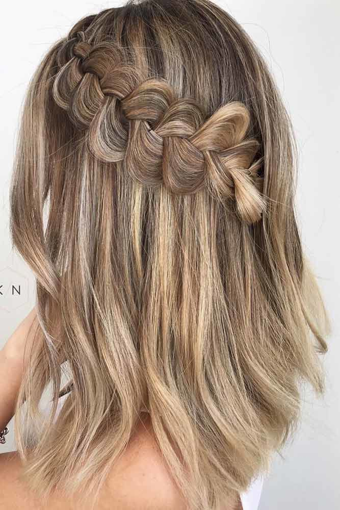 Braided Hairstyles Dutch #mediumhair #updos
