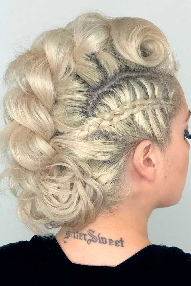 Hawk Into Low Bun For Medium Length Hair Braids #mediumhair #updos