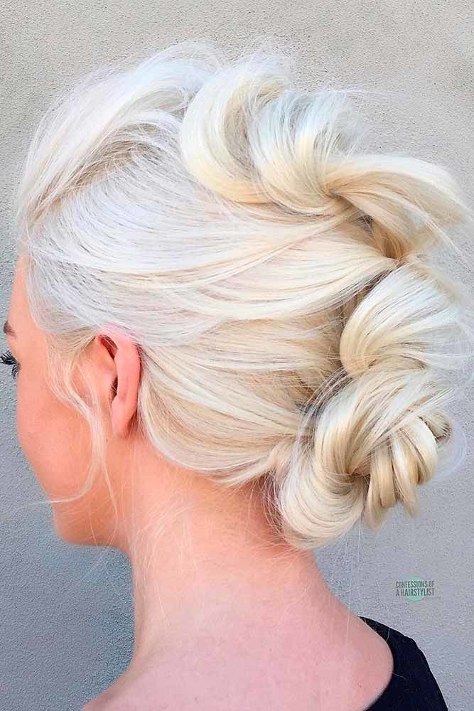 Hawk Into Low Bun For Medium Length Hair Knots #mediumhair #updos