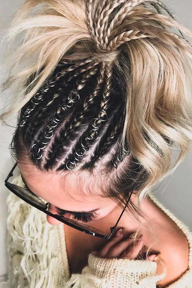 Ponytails For Medium Length Hair Braids #mediumhair #updos