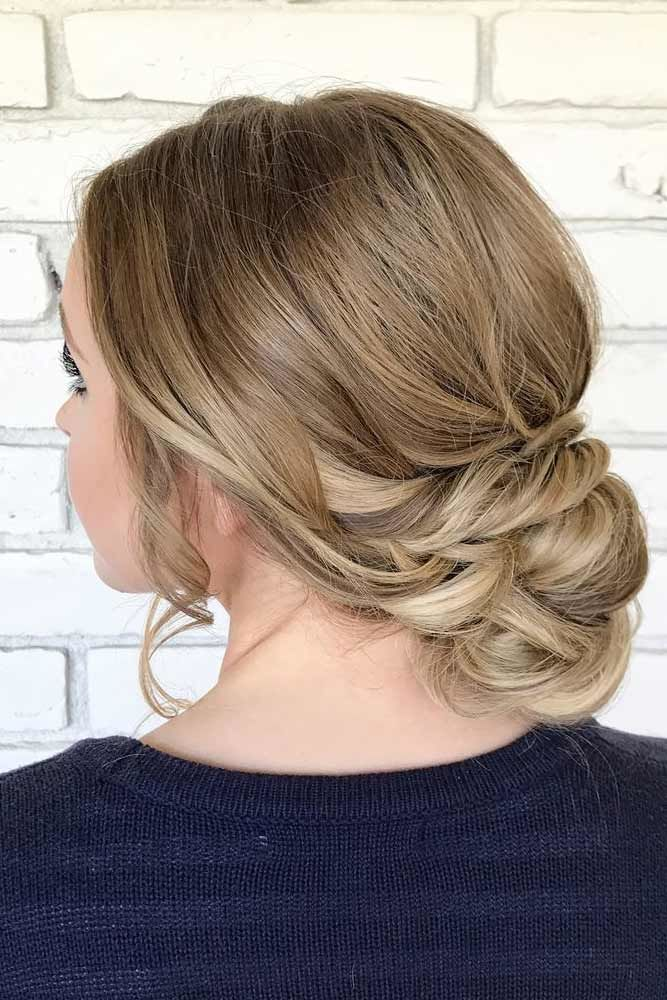 Low Twisted Buns Balayage #mediumhair #updos