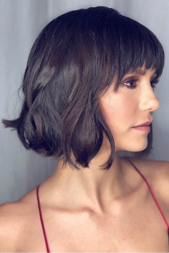 Blunt Bob With Bang #shorthaircuts #bobhaircuts #shortbob #bobwithbangs