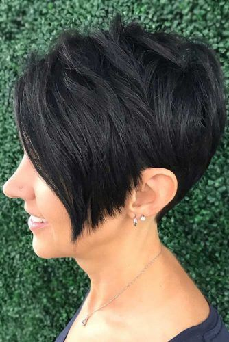 Inverted Layered Short Bob #shorthair #finehair