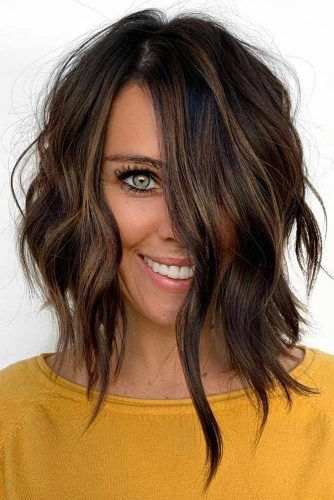 Long Wavy Layered Bob #shorthair #finehair