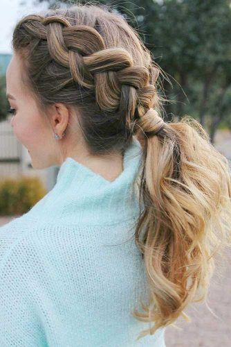 Pretty Wavy Braided Ponytails #updo #ponytail