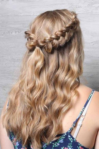 Half Up Hairstyles for Thick Hair picture1
