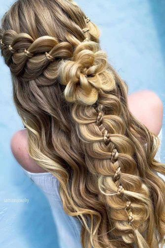 Half Up Braided Hairstyles For Thick Hair #hairstyles #thickhair #hairtype #halfuphairstyles