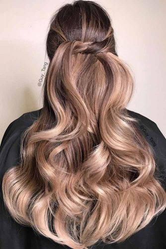 Half Up Hairstyles for Thick Hair picture2
