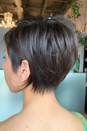 Brunette Pixie Hairstyles #hairstyles #thickhair #hairtype #pixiehairstyles