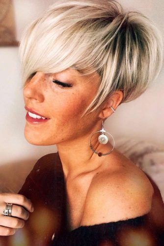 Blonde Pixie Hairstyles #hairstyles #thickhair #hairtype #pixiehairstyles