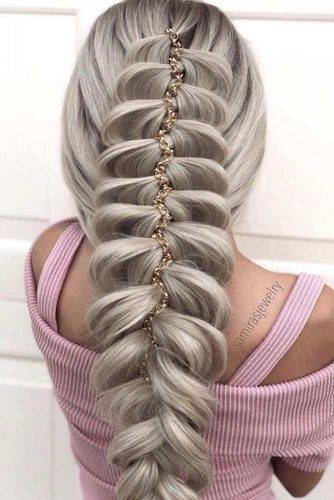 Accessorized Chic Braids For Thick Hair #hairstyles #thickhair #hairtype #braids