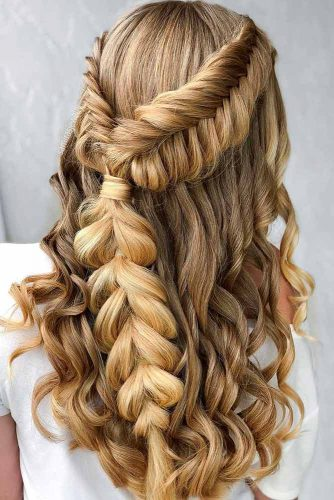 Braided Half Up Half Down Hairstyles picture2