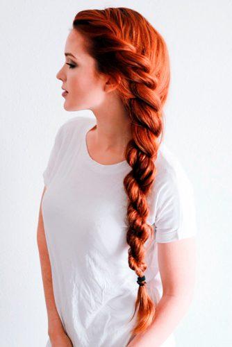 Trending Rope Braid Hairstyle