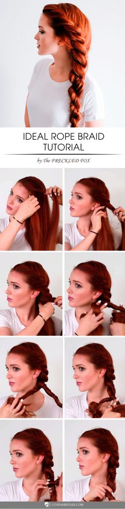 Ideal Rope Braid Hair Tutorial