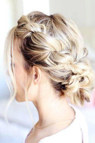 Rope Braids Updo Bun #braids #updo #bun
