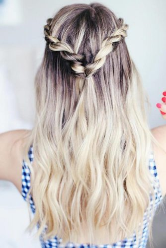 Half-Up Styles With Rope Braids #braids #halfup