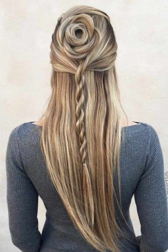 Half-Up Styles With Rope Braids