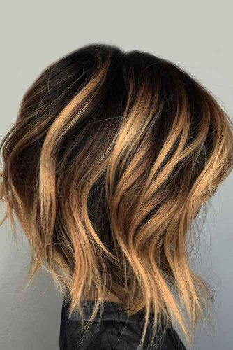 Balayage On Wavy Lob #hairstylesforthinhair #hairstyles #thinhair #hairtype #mediumhair