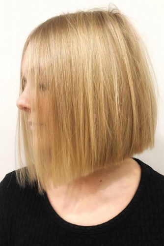 Angled Bob Haircut #thinhair #hairtypes
