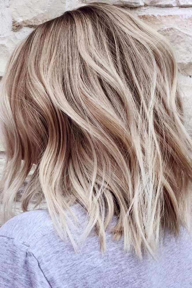 Shoulder Length Hairstyles For Thin Hair Highlights #thinhair #hairtypes