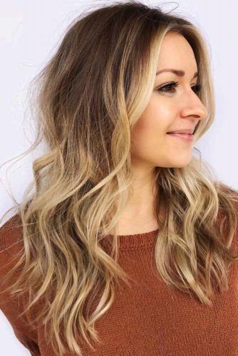 Middle Part Wavy Long Hair #thinhair #hairtypes