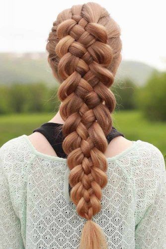 Five Strand Braid Hairstyle #hairstylesforthinhair #hairstyles #thinhair #hairtype #braids
