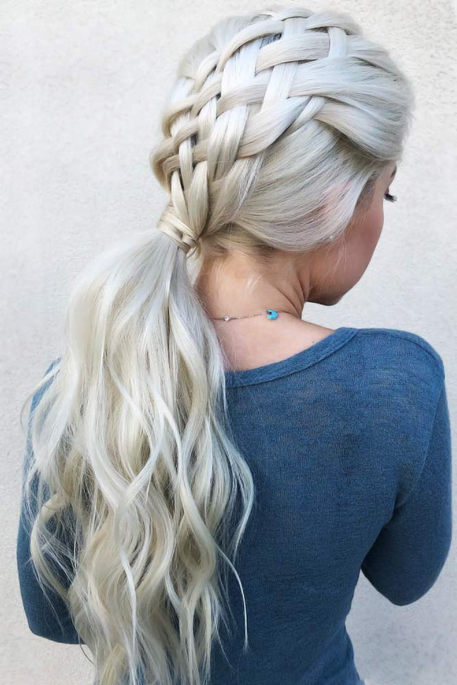 Five Strand Braid Hairstyles For Thin Hair #thinhair #hairtypes