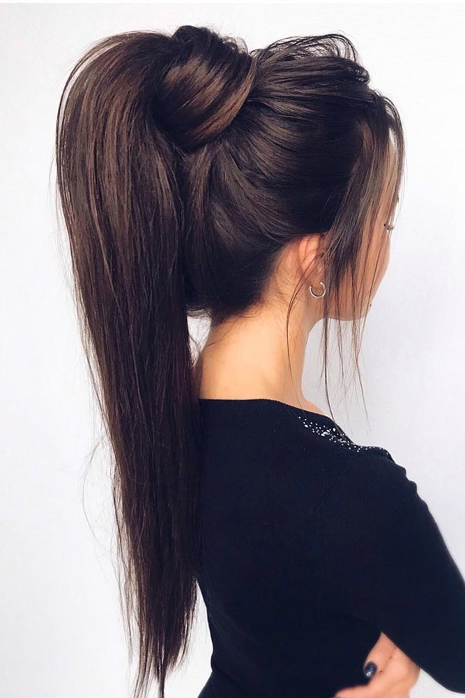 High Ponytail Hairstyles For Thin Hair #hairstylesforthinhair #hairstyles #thinhair #hairtype #ponytail