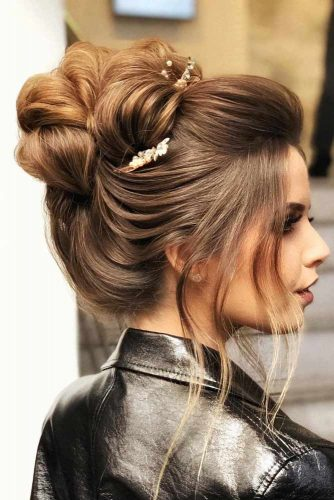 Updo Hairstyle With Accessories #hairstylesforthinhair #hairstyles #thinhair #hairtype #updohairstyle