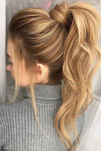 High Voluminous Ponytail #hairstylesforthinhair #hairstyles #thinhair #hairtype #ponytail
