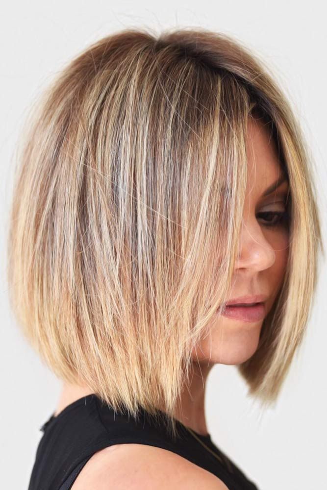 Rooty Blonde Bob #thinhair #hairtypes