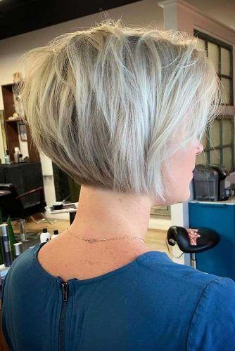 Layered Short Blonde Bob #thinhair #hairtypes