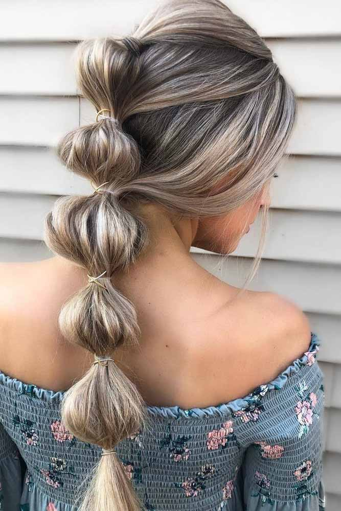 Long Bubble Braid Hairstyles For Thin Hair #thinhair #hairtypes