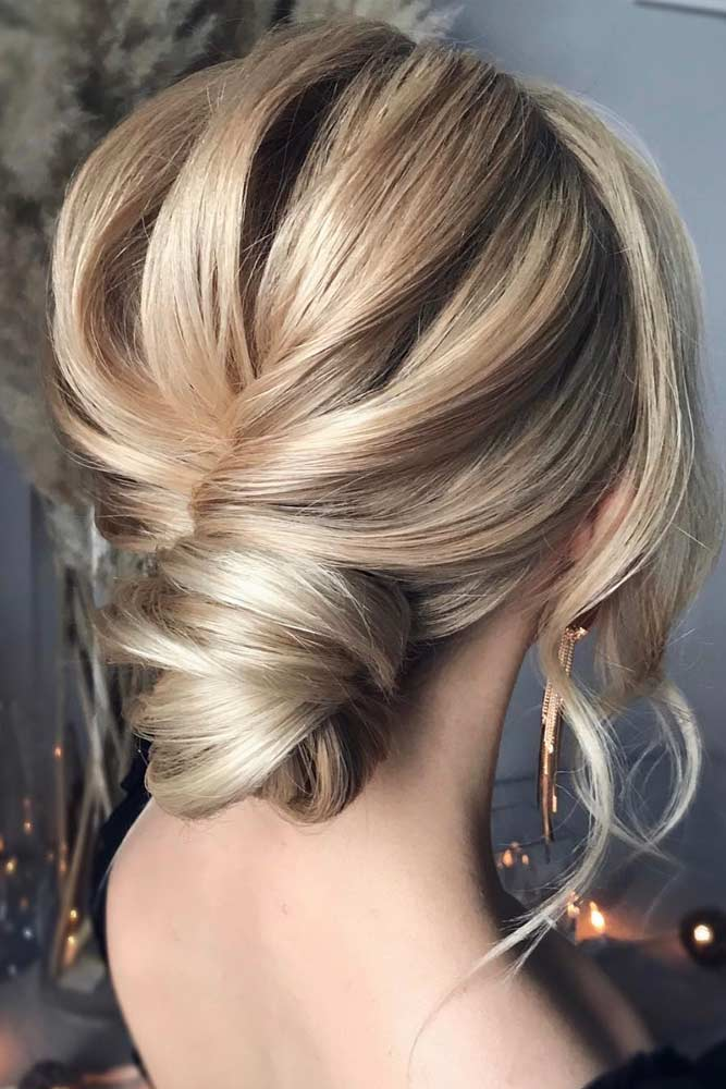 Low Bun For Medium Length Hair #updo #bun #thinhair