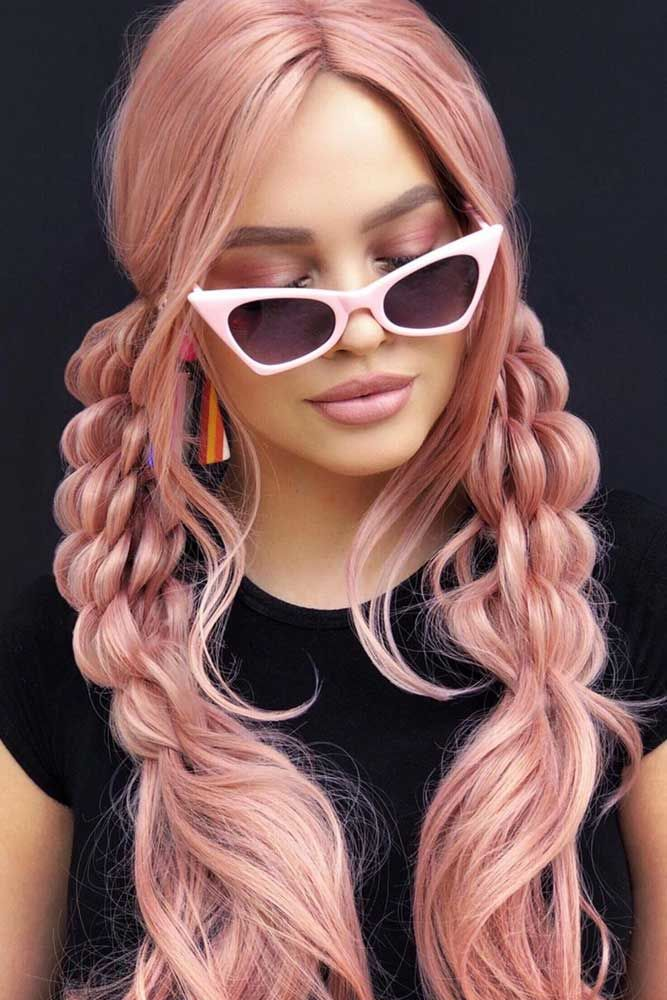 Pink Bushel Braids #thinhair #hairtypes