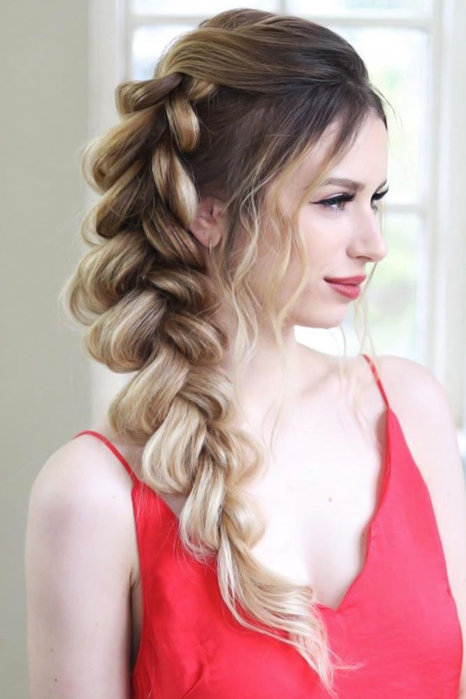 Voluminous Pull Through Side Braid #thinhair #hairtypes