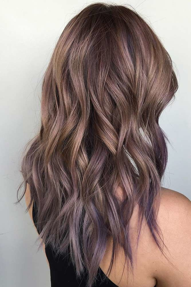 Long Hairstyles For Thin Hair Purple #thinhair #hairtypes