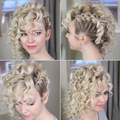 Side Swept Curly Hairstyle #hairstylesforthinhair #hairstyles #thinhair #hairtype