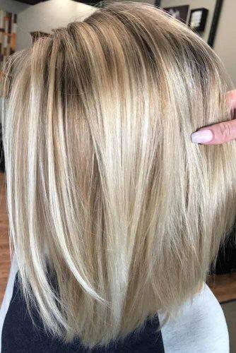 Rooty Blonde Bob #hairstylesforthinhair #hairstyles #thinhair #hairtype #mediumhair