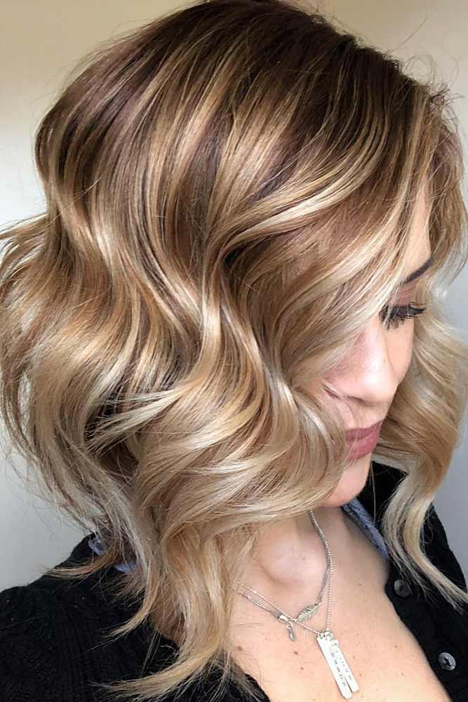 Long Bob With Deep Side Part #hairstylesforthinhair #hairstyles #thinhair #hairtype #mediumhair