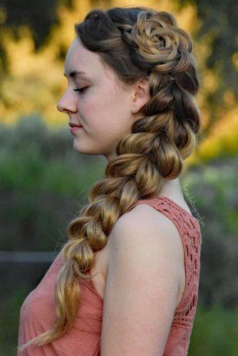 Voluminous Pull Through Side Braid #hairstylesforthinhair #hairstyles #thinhair #hairtype #braids