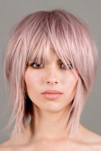 Uneven Bang For Medium Length Hair #hairstylesforthinhair #hairstyles #thinhair #hairtype #mediumhair