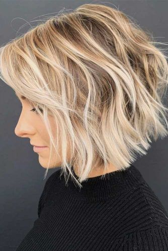 Textured Inverted Bob #thinhair #hairtypes