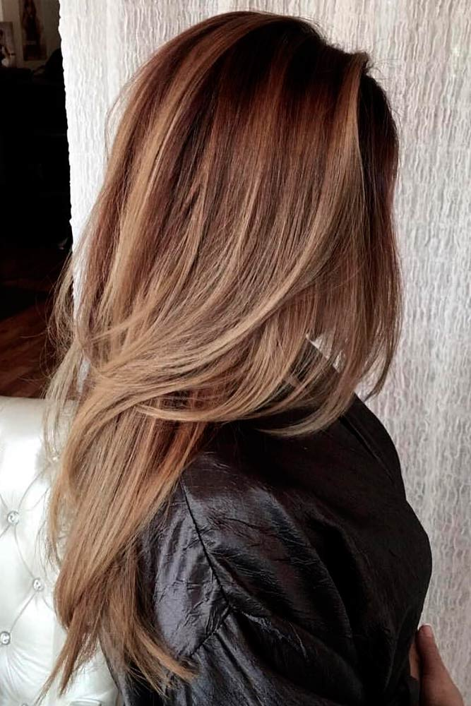 Stacked and Sexy Long Layered Hair