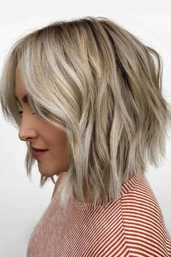 Messy A Line Lob #layeredhaircuts #layeredhair #haircuts