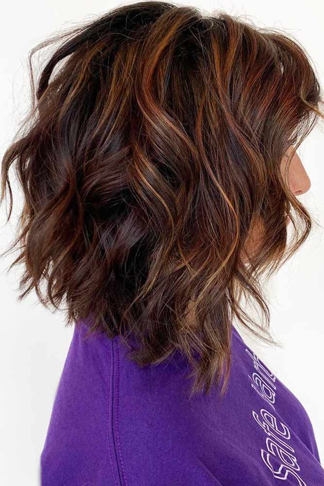 Angled Lob #layeredhaircuts #layeredhair #haircuts