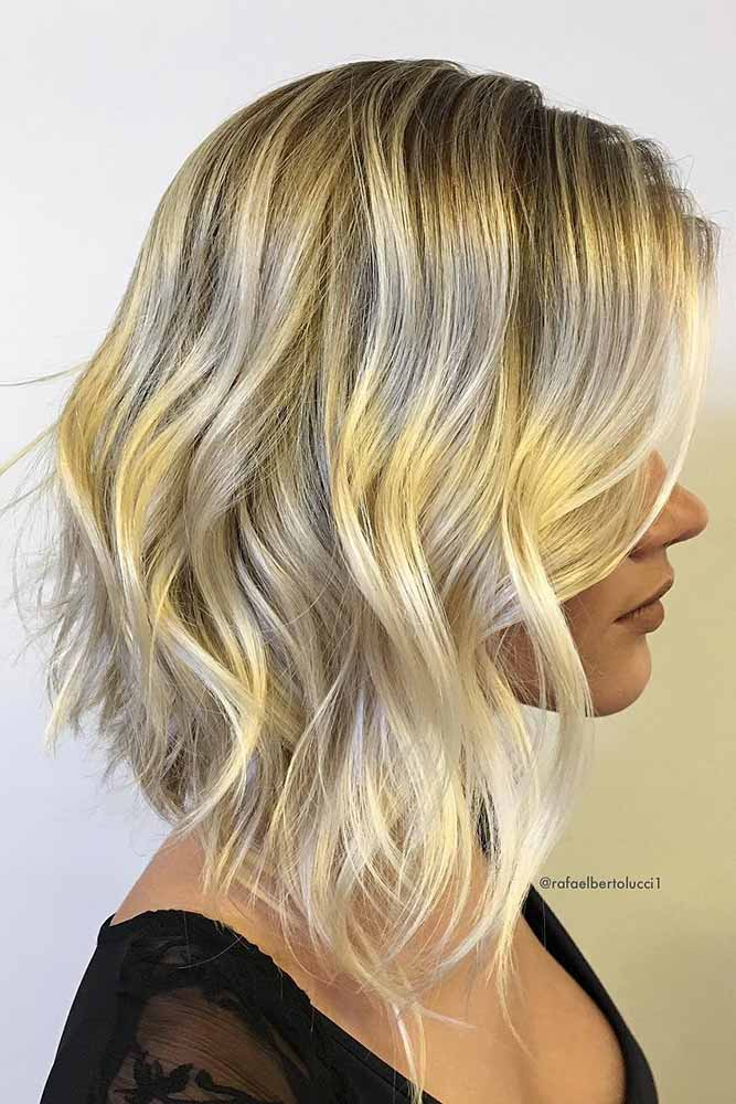 Wavy Sexy Stacked Layers #layeredhaircuts #layeredhair #haircuts