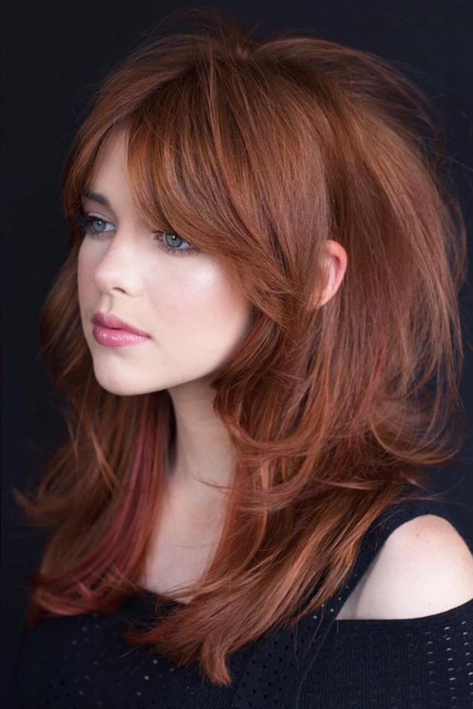 Auburn Racy Razored Layers #layeredhaircuts #layeredhair #haircuts