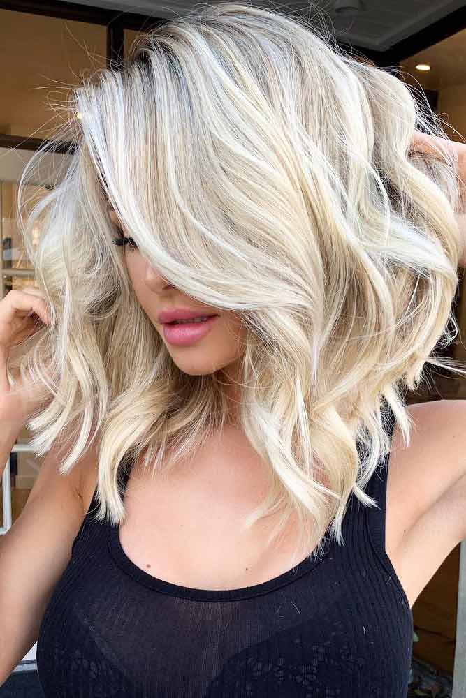 Blonde Side Parted Haircut #layeredhaircuts #layeredhair #haircuts