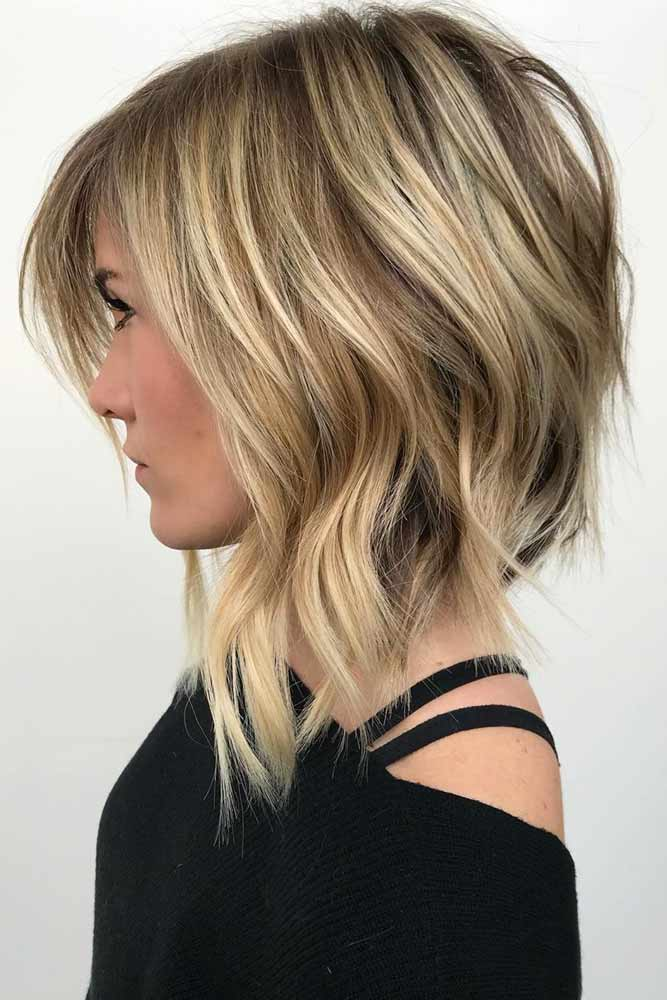 Blonde Sexy Stacked Layers #layeredhaircuts #layeredhair #haircuts